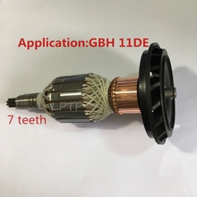 High quality AC220-240V armature rotor motor replacement for BOSCH GBH11DE GBH 11DE rotor 7teeth electric rotory hammer anchor ac 220 240v 6 7 9 teeth armature motor replacement for makita 5900b 5900br 516514 4 516513 6 circular saw rotor