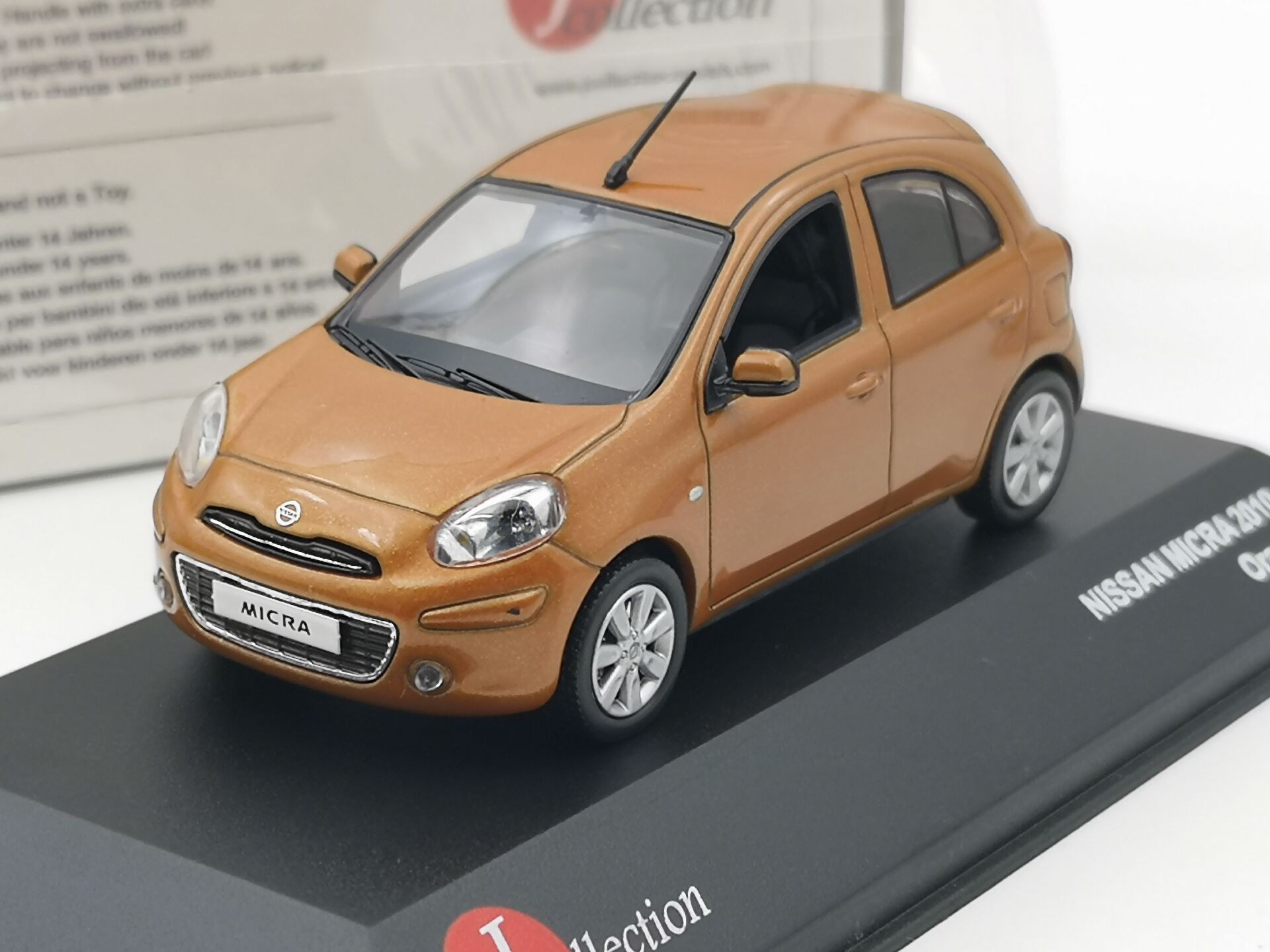 jc 1 43 nissan micra 2010 orange boutique alloy car toys for children kids toys model original