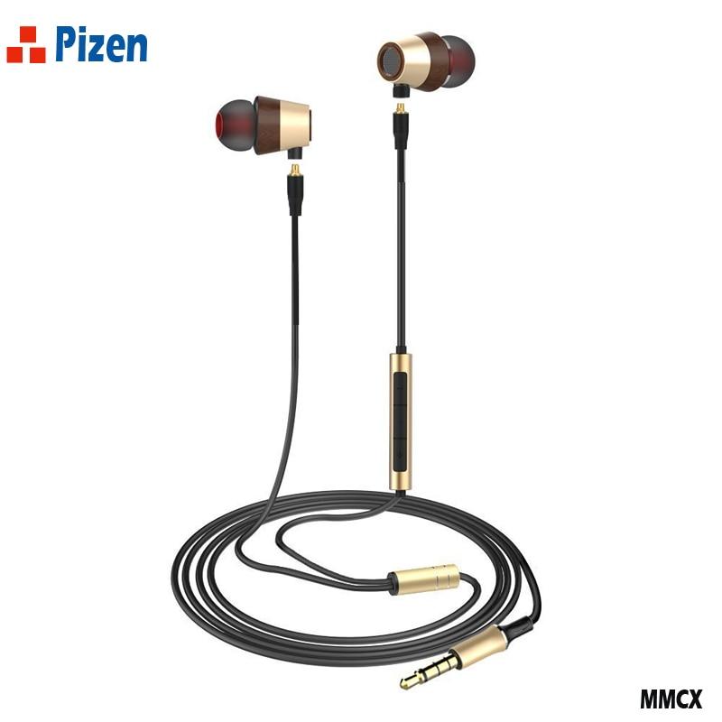 PIZEN WK50 Hybrid In Ear Earphone Driver BA mmcx cable for shure port Earbuds Double Unit earphones pk maigaosi bk50 kz zs10 qkz fashion professional in ear earphones light blue black 3 5mm plug 120cm cable