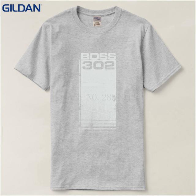 Anime Print Tee Shirt Brand Ford Mustang Boss 302 T-shirt Legend Lives Design Man T Shirt Round Collar Tees