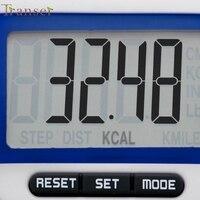 Activing LCD cyfrowy krok krokomierz licznik straconych kalorii podczas chodzenia odległość Run zaczep do paska nowy ST29 w Krokomierze od Sport i rozrywka na