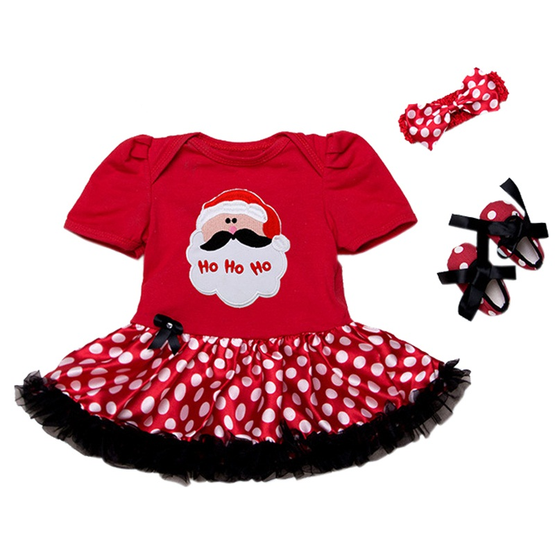 Xmas Baby Girl Infant Newborn Clothing Sets Santa Claus Tutu Romper Dress & Jumpersuit Christmas Bebe Birthday Costumes Vestidos