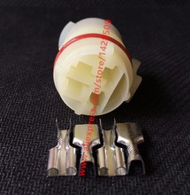 10 Sets Female 4 Pin 6.3mm Automotive Automobile Housing Connector