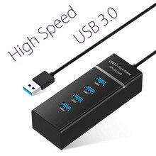 Basix супер скорость 4 порты и разъёмы USB 3,0 концентратор со светодио дный подсветкой 5 Гбит/с Usb 3,0 Splitter адаптер для ПК ноутбук тетрадь периферийные устройства