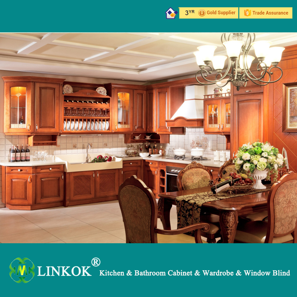 Made In China Kitchen Cabinets Linkok Furniture 2016 Home Furniture Solid Wood China Made Kitchen