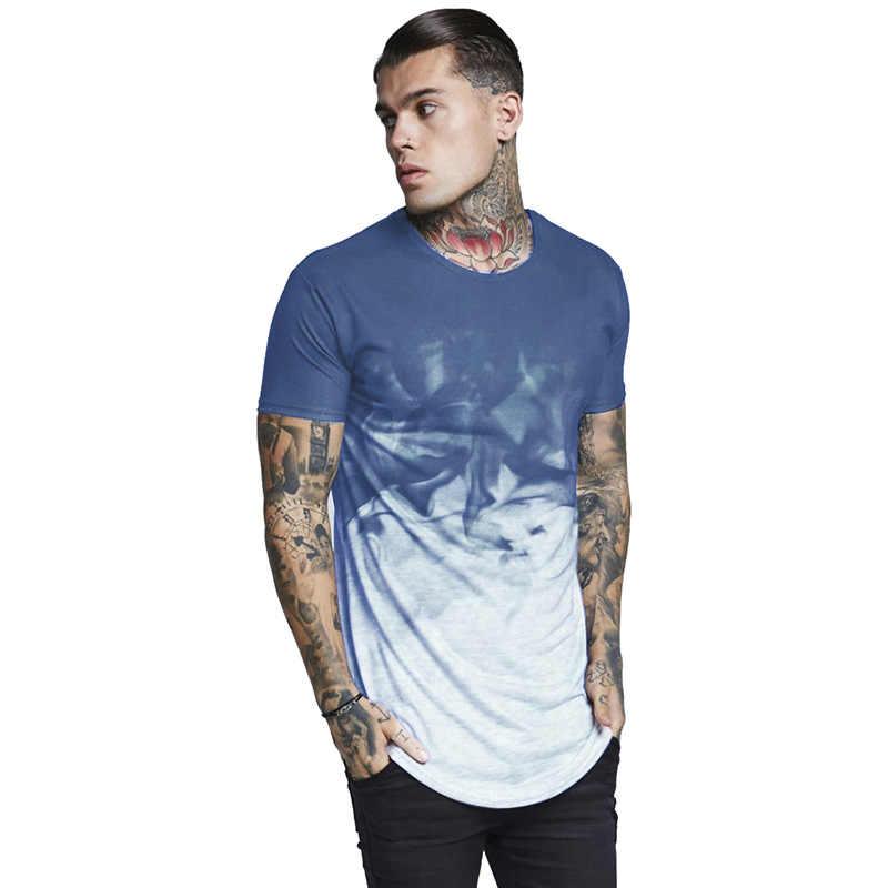 夏植シルク tシャツ男性ヒップホップ Camisetas Hombre ストリート Camiseta 男性フィットネス Tシャツジムワークアウト Tシャツ男性