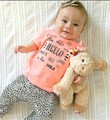2017 nuevo estilo de ropa de Bebé conjuntos de otoño y primavera las niñas juegos de ropa de bebé ropa de niño conjunto de manga larga y pantalones