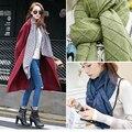 2016 New fanshion South Korean cotton winter scarf burst model checked single color women scarf shawl