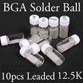 10 ШТ. 12.5 К Этилированного Ball Припоя Комплект 0.25/0.3/0.35/0.4/0.45/0.5/0.55/0.6/0.65/0.76 компл. Для BGA Переделки Ремонт PMTC SGS Sn63/Pb37