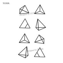 TCOOL Triangle Geometry Temporary Fake Tattoo Body Art Sticker Waterproof Face Tattoo Sticker for women Children 10.5X6cm G-017