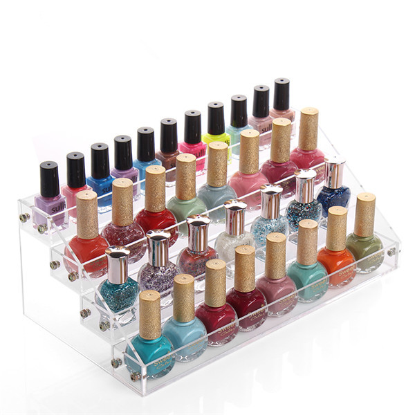 4 Tiers Fashion Cosmetic Acrylic Makeup Nail Polish Varnish Display ...