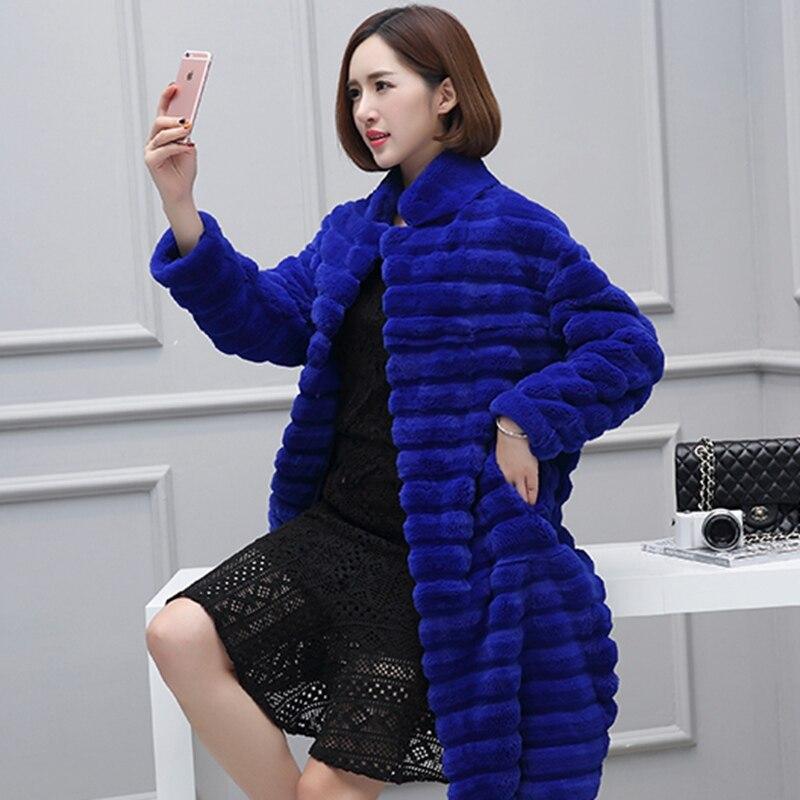 Taille Col Fourrure Veste topfurmall Vêtement Survêtement De Rex Manteau Black Lf4129 Réel 3xl blue Lapin red Hiver Renard Plus Lady Manteaux Femmes wII0Tqz