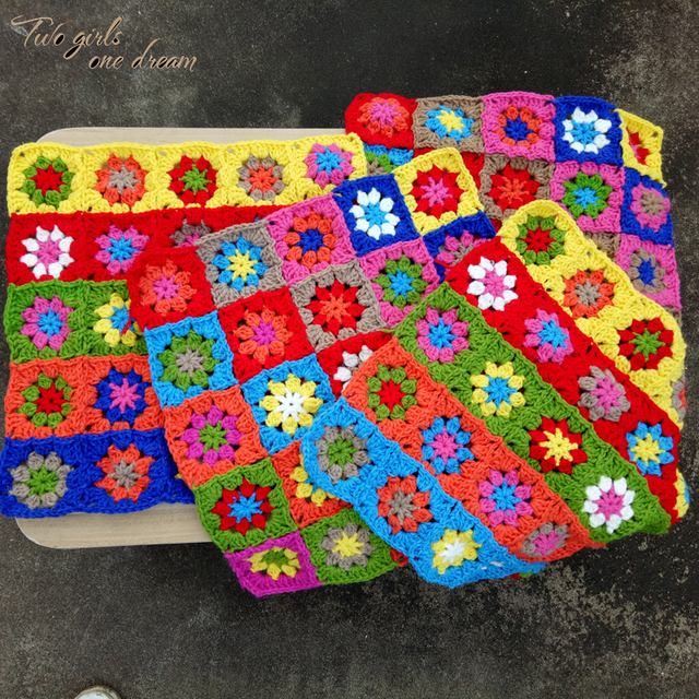 Original Square Handmade Crochet Seat Cushion Diy Hand Tablemats