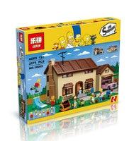 2017 Hot New LEPIN 16005 2575Pcs The Simpsons House Model Building Block Bricks Compatible 71006 Boy