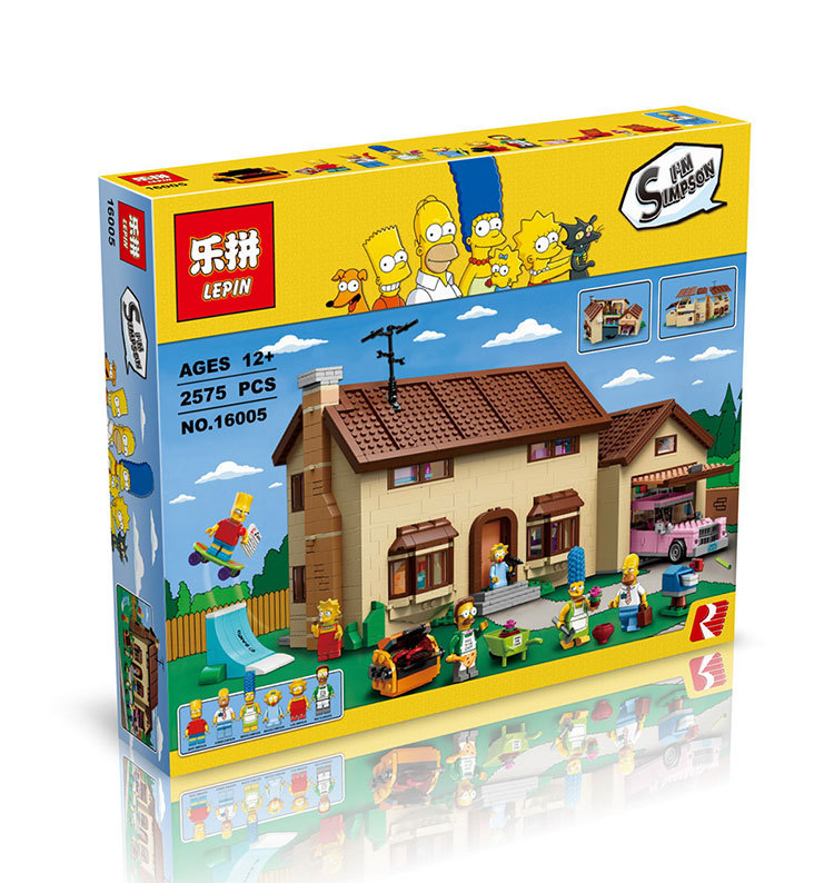 2017 Hot New LEPIN 16005 2575Pcs the Simpsons House Model Building Block Bricks Compatible 71006 Boy gift lepin 22001 pirate ship imperial warships model building block briks toys gift 1717pcs compatible legoed 10210