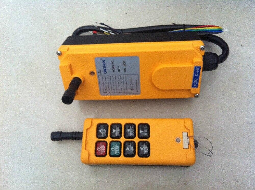 12ボルト8チャンネル1速度ホイストクレーンラジオリモートコントロールシステムコントローラhs-8
