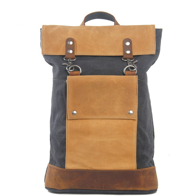 M214 New Luxury Japan and Korean Vintage Laptop Backpacks for Men Luxury Retro School Bags Teenagers