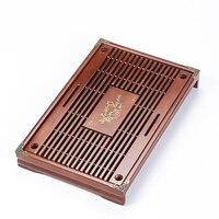 Solid Wood Tea Tray Drainage Water Storage Tea Set Drawer Tea Room Board Table Accessories