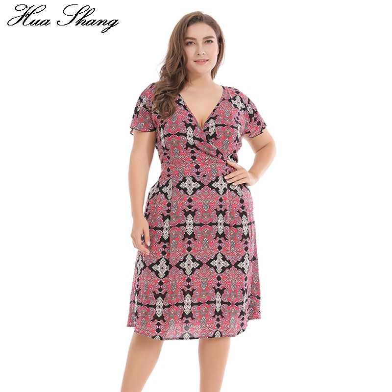 903627c243d ... Принт плюс размер платье сексуальное Глубокий v-образный вырез 2018  женское богемный пляжный сарафан хлопок ...