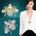 Hot New Exquisite Fashion Rhinestone Animal Brooch Lovely Alloy Bee Brooches For Women Fine Jewelry Animal Little Bee Brooches