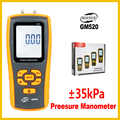 Di alta Precisione Manometro Digitale Misuratore di Pressione Differenziale Air Pressure Gauge Display LCD USB GM520-BENETECH
