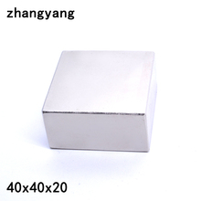 Aimant permanent puissant en néodyme, 2 pièces, 40x40x20mm, métal gallium, aimant permanent super puissants, carré, 40x40x20