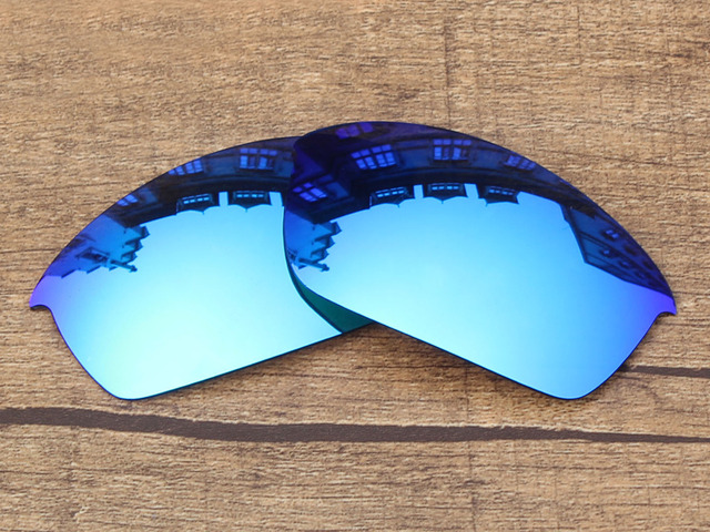Polycarbonate-Ice Blue Mirror Replacement Lenses For Flak Jacket Sunglasses Frame 100% UVA & UVB Protection
