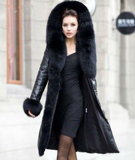 Veste femme cuir et fourure