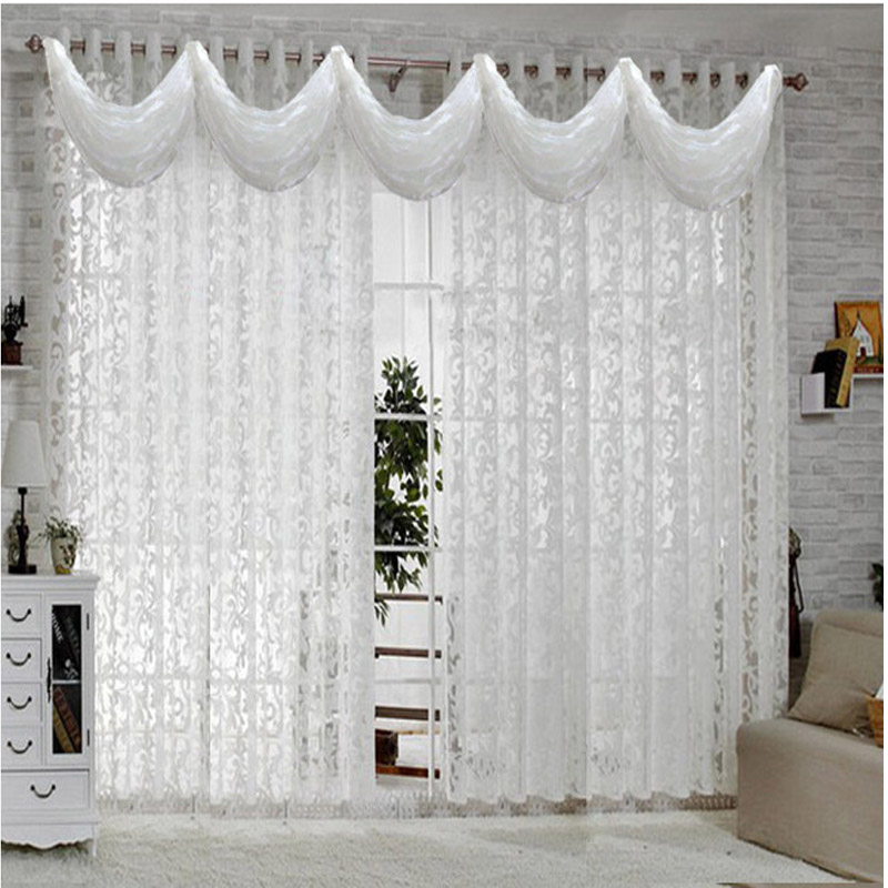 White Curtains For Living Room Bedroom European Curtain