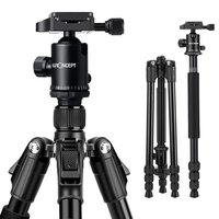 K&F Concept TM2534B Lightweight Professional Aluminium Camera Tripod with 360 Ball Head Quick Release Plate for Nikon Canon DSLR