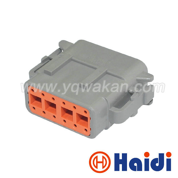Free Shipping 2sets 12pin Auto Electric Housing Plug DTM06-12SA Auto Waterproof Wiring Cable Connector DTM06-12S