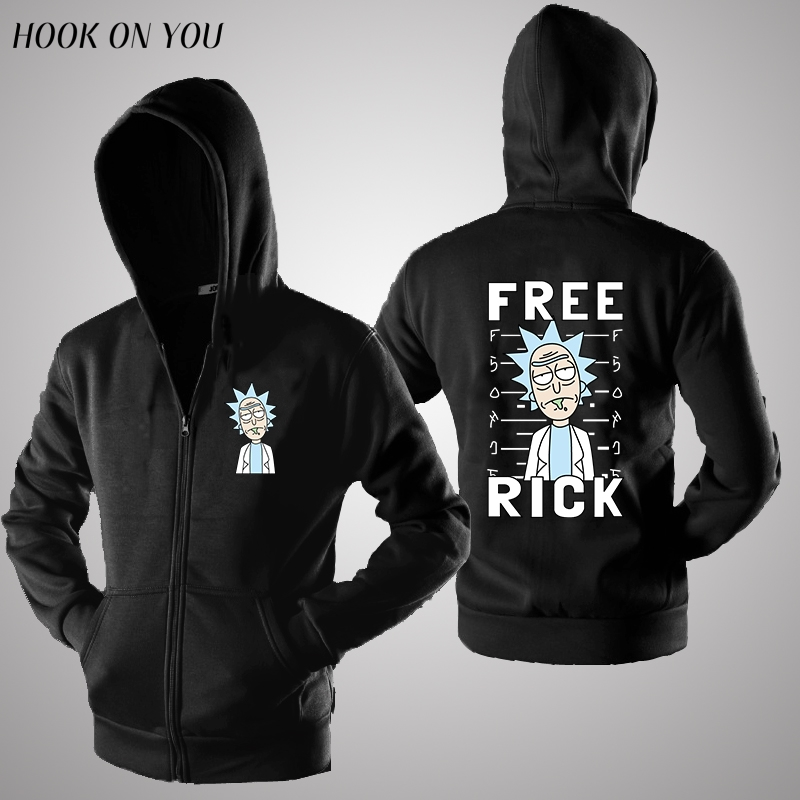 anime free rick and morty zipper hoodies cardigan sweatshirt rick morty schwifty hoodie winter clothing pocket rick