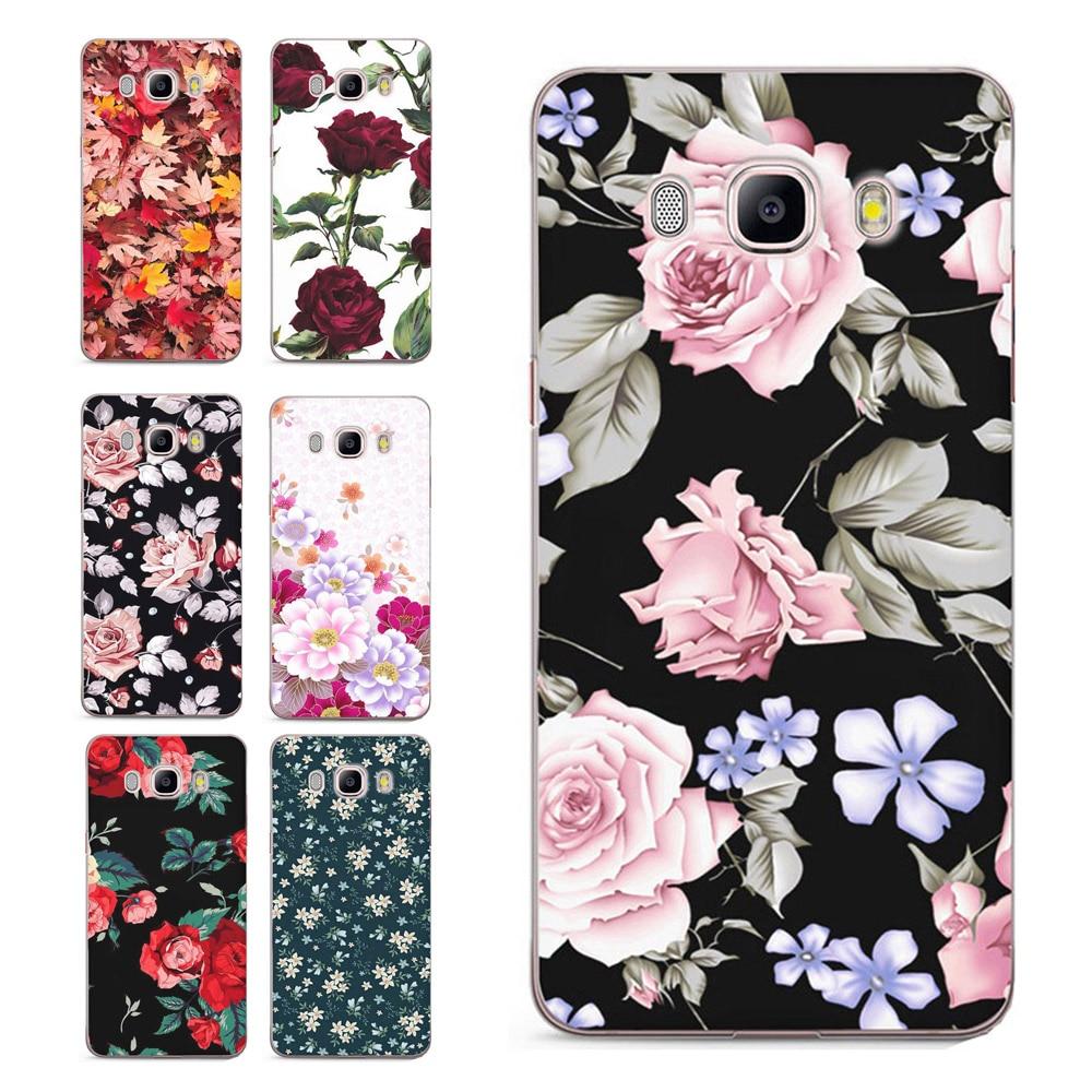 Galleria fotografica Case For Samsung Galaxy A3 A5 2016 2017 prime J1 J2 J3 J5 J7 TPU Colorful Soft Flora Flower Face Painted Design Case Fundas C079