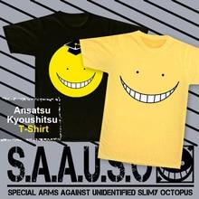 Ansatsu Kyoushitsu T-shirt New Anime Assassination Classroom T Shirt Korosensei snicker Tops Fashion Men Women Cotton Tees