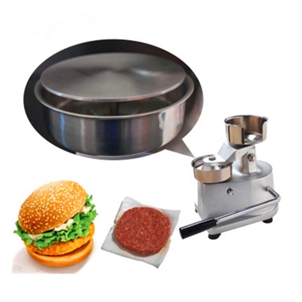 Manual hamburger patty forming machine burger bakemeat meat pie maker цена