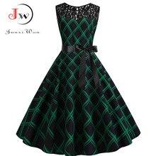Blue Lace Patchwork Summer Dress Women 2019 Elegant Vintage Party Dress Casual Office Ladies Work Dress Plus Size
