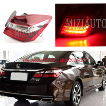 1Pcs Car Styling for Honda Accord Tail Lights 2016-2017 LED Rear Lamp 9.5 LED Tail Light LED Park DRL Brake Signal Lights jgd brand new styling for vw golf 6 tail lights 2009 2013 led tail light rear lamp led drl singal car lights