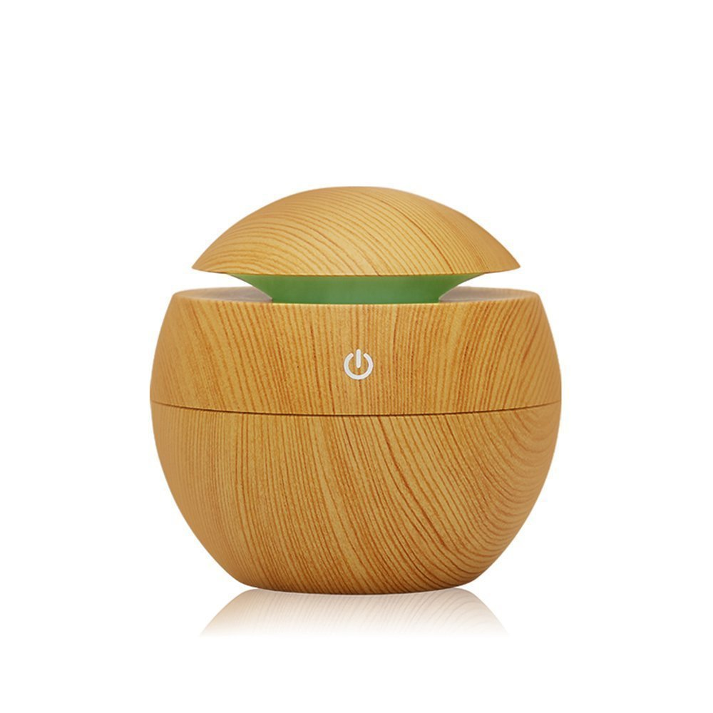 Mini USB Air Humidifier Household Essential Oil Diffuser with Light Aroma Lamp Aromatherapy 130 ML Air Humidifier for Office