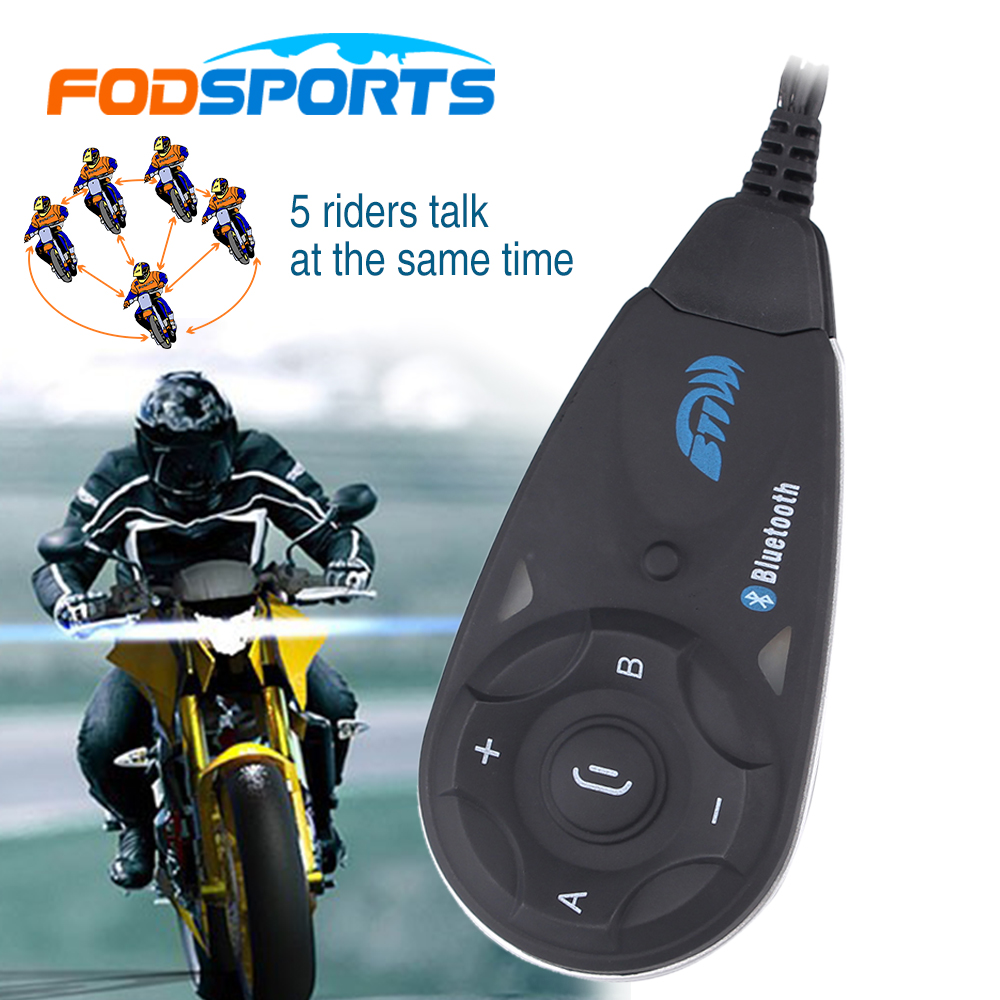 1 pcs V5 Interphone motorcycle helmet bluetooth intercom headset  Fully Duplex Wireless Communication among 5 Riders with FM wireless bt motorcycle motorbike helmet intercom headset interphone
