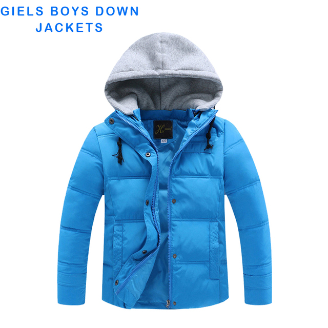 Children Winter Jackets Girls Boys Long Sleeve hooded Boys Winter Children Down Jacket Coat WindProof Kids Clothes