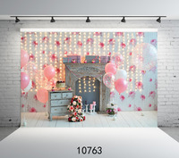 Photography Background Photo Vintage Fireplace Pink 1st Birthday Party Customize Vinyl Printing Cloth Backdrops For Photo