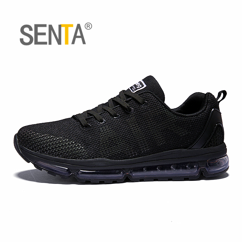 SENTA 2018 Air cushion Running Shoes for Men Reflective light breathable mesh vamp Women sports sneakers anti-skid walking shoes onemix 2017 men s running shoes women sports sneakers light walking shoes breathable mesh vamp anti skid outdoor sports sneakers