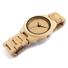 BOBO BIRD Men s Watches Gift All Bamboo Male Wood Wristwatches Wood Strap Watch with Retail
