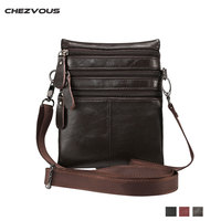 CHEZVOUS 100 Genuine Leather Men Women Crossbody Bag Mobile Phone Pouch Shoulder Bags For Iphone5 5s