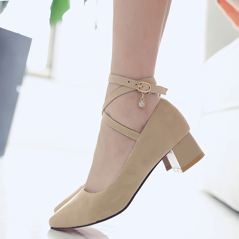 Pompes Style Cheville Talon Carré Orteil rouge 34 New Sangle Chaussures Grande British Casual Poined 43 Femmes Beige Taille Med noir vf0A851qw