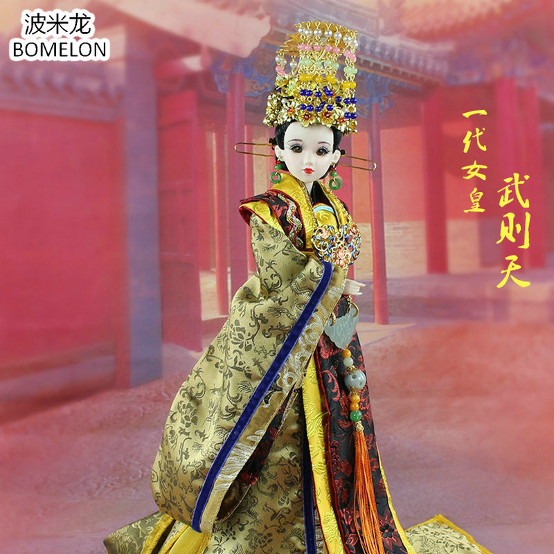 Hand-made Chinese Doll Empress Wu Tang Only Female Emperor of China 12 Jointed Doll 1/6 Bjd Dolls Toy For Girl Christmas GiftHand-made Chinese Doll Empress Wu Tang Only Female Emperor of China 12 Jointed Doll 1/6 Bjd Dolls Toy For Girl Christmas Gift