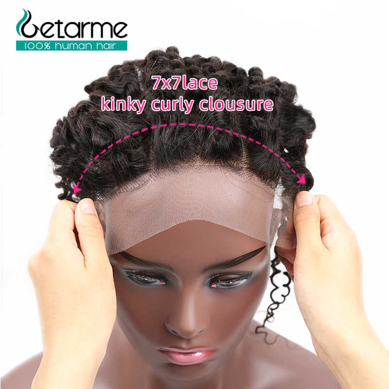 Бразильские кудрявые вьющиеся волосы, 7x7, кружевное закрытие с пучком s Remy, предварительно сорванное кружевное закрытие с пучком 30 дюймов, пучок s с фронтальной