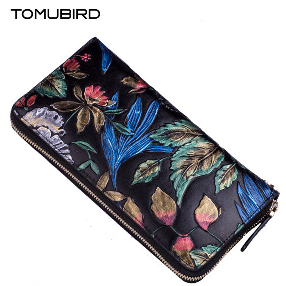 Vintage Long Wallet women leather High Quality cow leather Female Fashion embossing design Purse Card Holder carteira masculina new brand candy colors leather carteira couro cards holder for girls women wallet purse plaid embossing zipper wallet