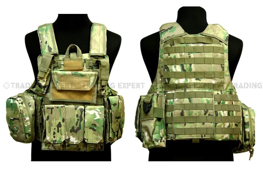 Tactical vest MOLLE Combat Vest (Multicam) sports vest-in Hiking ... 1864f7893162c