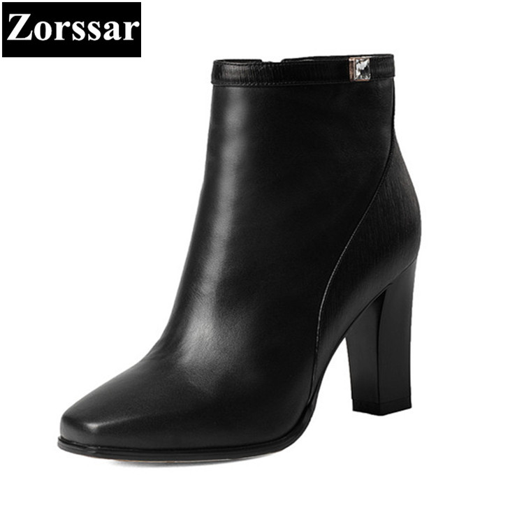 {Zorssar} 2017 NEW Fashion Women riding Boots pointed toe High heels Ankle Boots for Women Shoes Autumn Winter Female boots best promotion 10pcs set diamond holesaw 3 50mm drill bit set tile ceramic porcelain marble glass top quality